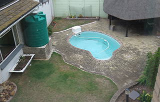 Our pool before home renovation