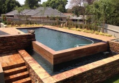 Handpacked Gunite Concrete Pool