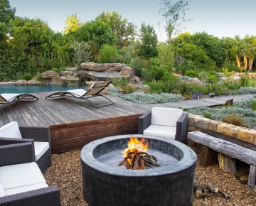 This is one of our favourites with a natural landscape and warm inviting, useful garden.