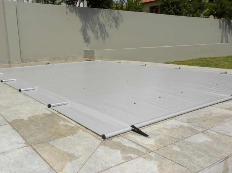 Child and Pet Safety Pool Cover - Dove Grey